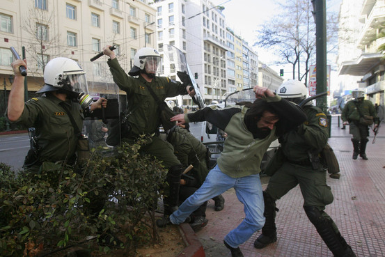 Greek strikes and riots