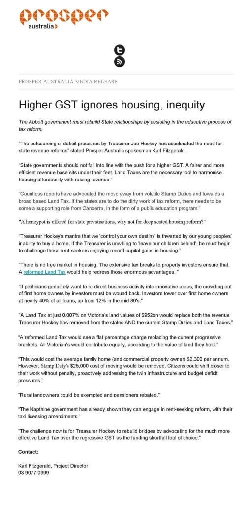 Prosper Australia Media release