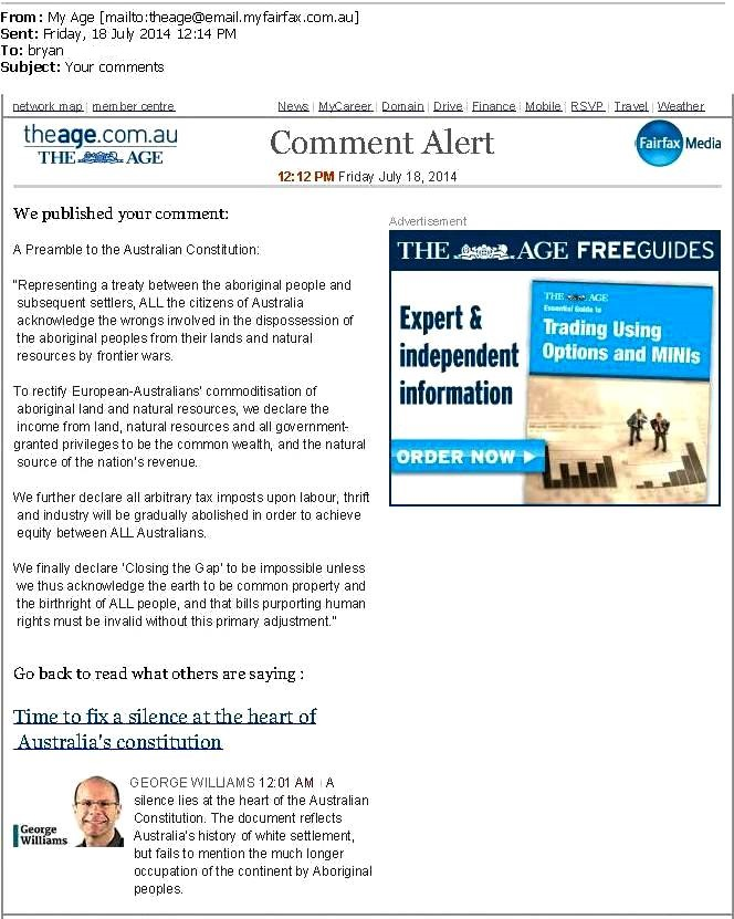 PREAMBLE comment THE AGE