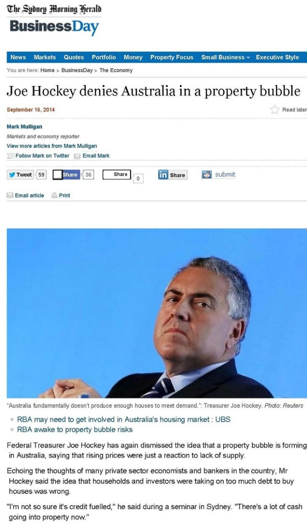 Joe Hockey denies